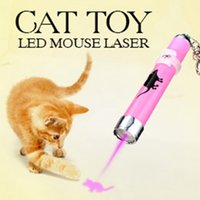 Wholesale Portable Creative and Funny Pet Cat Toys LED Laser Pointer light Pen With Bright Animation Mouse Shadow