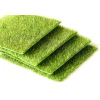 artificial grass carpet - Nearly Natural Grass Mat Green Artificial Lawns x15cm Turf Carpets Fake Sod Home Garden Moss Floor Decoration