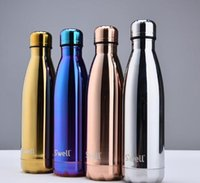 aluminum flask - Best quality Swell Men s Large Stainless Steel Bottle Vacuum Flask Cup S well Sports bicycle water Bottles colors with SWELL BOX