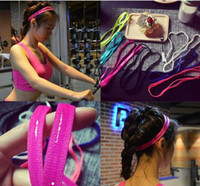 Wholesale New Arrive Women Sports Yellow Hair Rubber Bands Green Fitness Hair Rubber Bands Sports Accessories