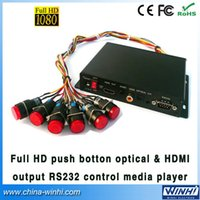 Wholesale Guaranteed shopping Push Button Optical HDMI output RS232 Control full hd media player USB SD Manufacturer Speedy Delivery