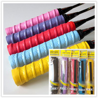 Wholesale Badminton Racquet OverGrip Fishing Tenis Skidproof Sweat Band grip Tennis Racket Overgrips Anti skid Sweat tape Absorbed Wraps free ship