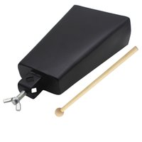Wholesale High Quality quot quot quot quot quot Iron Cow bell Percussion Instrument with Clapper for Drum Set Kit Accessory