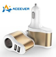 battery usb lighter - Multifunction Metal Dual Car Battery Charger USB A Cigarette Lighter Universal for Smartphone iPhone s s iPad S7 Galaxy S5