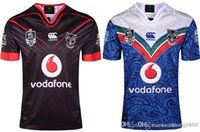 Wholesale New in stock best quality rugby shirts WARRIORS NRL Home Rugby jerseys blue away size S XL