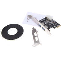Wholesale 2 Port SuperSpeed USB PCI E PCIE PCI Express pin IDE Connector Adapter usb3 Add On Card Low Profile