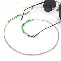 achat en gros de lunettes de soleil perles-GL167 10pc / lot Livraison gratuite Vert Beaded lunettes Lunettes de soleil Spectacle Beads Chain Strap Holder Neck Vogue élégant
