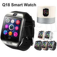 1.54 pouces Le plus chaud Q18 Bluetooth Smart Watch Support Carte SIM NFC Connection Smartwatches santé pour Android Smartphone avec paquet