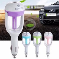 Wholesale Car Humidifying Air Purifier Aroma Aromatherapy Oil Diffuser Negativeion Air Cleaner