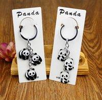 animal keychains china - Cute Pandas Keychains Promotion gift keyring china pandas key ring best gift