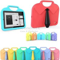 anti china shirts - Portable Kids Shirt Tie for iPad Mini inch Drop Resistance Stander Handheld Protective Back Cover Opp Bag
