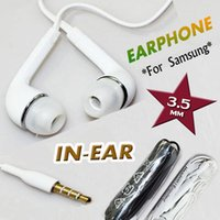 Wholesale Headphones In Ear Earphone with Mic and Remote Stereo mm Headset for Samsung Galaxy S7 edge S6 S5 S4 Note