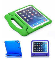 al por mayor prueba de ipad-Soporte seguro de la cubierta de la manija de la caja de EVA de la prueba del choque de la espuma de los cabritos portables para el mini 1234 2/3/4 Air 5 6 del iPad mini envío libre