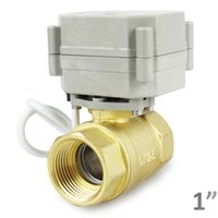 Wholesale YIDAY quot DN25 DC12V V Way Motorized Ball Valve Normally Closed Brass CR2 Electric Ball Valve