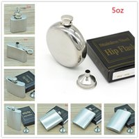 Wholesale Stainless Steel Hip Flask oz oz oz oz oz oz with Funnel oz oz without Funnel Christmas Gift Flat Round New
