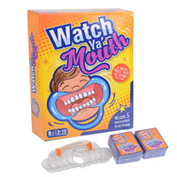 Wholesale Watch Ya Mouth Game Best Christmas Celebration Party Game Board Game cards mouthopeners Family Edition Hilarious Mouth Guard