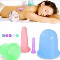 Wholesale 5 Colors Health Care Silicone Vacuum Cupping Cups Neck Face Back Massage Cupping Cups Relax Full Body Massage Cup set CCA5689 set