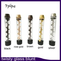 Wholesale Twisty Glass Blunt Pipe Second Generation Herbal Vaporizer Dry Herb Vape Pen high quality color Pipe Vapor