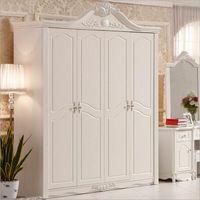 bedroom french doors - hot selling new arrival four door wardrobe modern European whole wardrobe French bedroom furniture wardrobe pfy10036