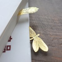 Wholesale Metal bookmarks for books Vintage gold feather bookmark tab livros Stationery office accessories School supplies