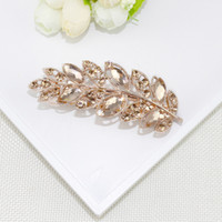 Wholesale Hot Style Crystal Set Auger Spring Horsetail Hair Pin Head Ornaments Speed Sell Diamond Clip Hair Accessories