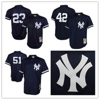 bernie williams baseball - Retro New York Yankees Don Mattingly Jersey Mariano Rivera Jersey Bernie Williams Jersey Mitchell Mesh Stitched Baseball Jerseys