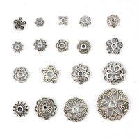 Wholesale High quality Alloy Bead Retro Big Hole Silver Plated Bracelet Charms Women European Style Beads Promotion Metal Snap Button Snaps Jewelry