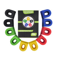 bicycle part wholesale - 5 Pairs Mountain Bikes MTB Road Bicycle Cycling Crankset Protective Sleeve Crank Silicone Protective Sleeve Cover Parts Colors