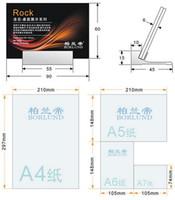 aluminium signs - 30 mm LABEL HOLDER Aluminium metal tabletop desktop display rack acrylic sign list holder showing stand label frame