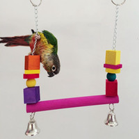 Wholesale Top Sale Birds Cage Hammock Swing Toy Parrot Macaw Cockatiel Hanging Chew Bite Toys Pet Bird Products JJ0209
