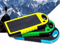 Wholesale Solar Charger Dizaul mAh Portable Solar Power Bank Shockproof Dustproof Dual USB Battery Bank for cell phone iPhone Samsung