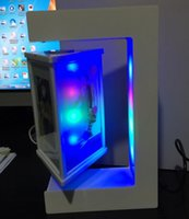 Wholesale dhl free new magnetic levitation floating photo frame display stands with led light E shape