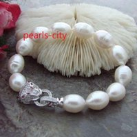 Wholesale Huge AAA mm Natural south sea white pearl bracelet inch