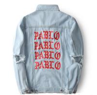 album wash - KANYE Kanye album to commemorate the PABLO washed old denim jacket to do denim clothing high quality