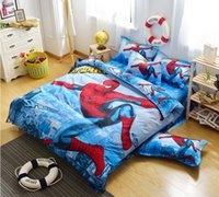 Wholesale HOT SELL spiderman bedding set girls Twin full size Bedding kids quilt set boys cotton d cartoon Duvet cover bed sheets