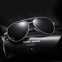 Gafas de sol polarizadas de los hombres de las gafas de sol del diseñador de la marca de fábrica del magnesio del aluminio que conducen los vidrios Gafas de sol del verano 2017 con la caja