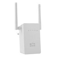 al por mayor repetidor inalámbrico uk-Nuevos 300Mbps WIFI Extender Routers 300M Dual Antenas Wireless-N wi-fi Repetidor 802.11N / B / G Red Roteador UE Reino Unido EE.UU. LV-WR02E