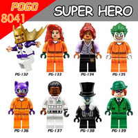 baby riddles - 2017 Newest PG8041 Super Hero Marvel Prison Poison Ivy Uniform Barbara Gordon Catwoman Aaron Riddles Building Blocks Baby Toys Gift