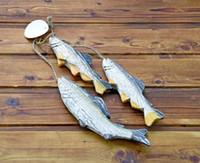 Les cadeaux créatifs méditerranéens Artisanat artisanal de poissons en bois sculptés à la main Salle à manger mur agir le rôle de