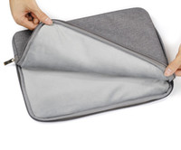 Wholesale Jean Fabric Storage Carrying Bag Protective Sleeve Handbag for Macbook Air Pro Retina inch Laptop PC Universal Zipper Bags Shockproof