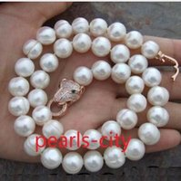 Wholesale HUGE AAA MM NATURAL SOUTH SEA WHITE PEARL NECKLACE INCH