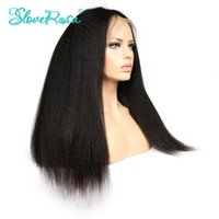 Slove Full Lace Hair Hair Perruques pour les femmes noires Brazilian Virgin Hair Wig Kinky Straight Lace Front Cheveux Humains Perruques Glueless Wigs