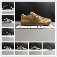 2017 Dunk Shoes Qualité supérieure SB Dunk Low Reverse Reese Forbes Wheat Green Cork CO.Jp Casual Shoes Taille 36-45 Avec Box