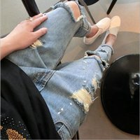 Wholesale Fashion insider recommend fangle hole jeans ladies casual haren pants Street wear style summer new testimonials