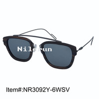 bicycle light automobiles - Cool super light and thin bicycle motorcycle automobile race sports ebony wood sunglasses with matt dark grey metal temples and nose bridge