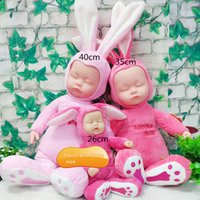 Wholesale High CM Have Music Creative Calm With Baby Sleep Cute Animals Simulation Plush Doll