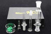 Tuyau de paille de miel Avis-Nectar Collector Kit Tuyaux de fumage avec GR2 Titanium Dab Oil Rigs Tubes d'eau en verre 10mm Honey Concentré de paille Mini Bongs NC01