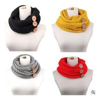 Fashion acrylic scarves - Button Scarves Womens Infinity Scarf Winter FashionThick Brand Scarves for Women Multi Scarf Neck Warmer Ring Scarf