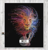 Wholesale HD Printed Animal Male Lion Wall Art Painting Canvas Print Room decor print poster Picture Canvas Office home decor