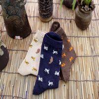 antibacterial textiles - Women s Cotton Sock Japanese Cartoon Jacquard Lady s Hosiery Breathable Absorbent Antibacterial Textile Socks one Size